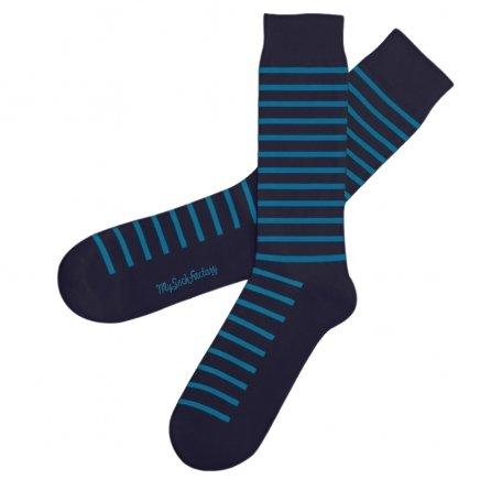 navy-blue-striped-socks-diamond-presentation