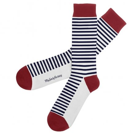 chaussettes-rayees-blanches-bleues-rouges-french