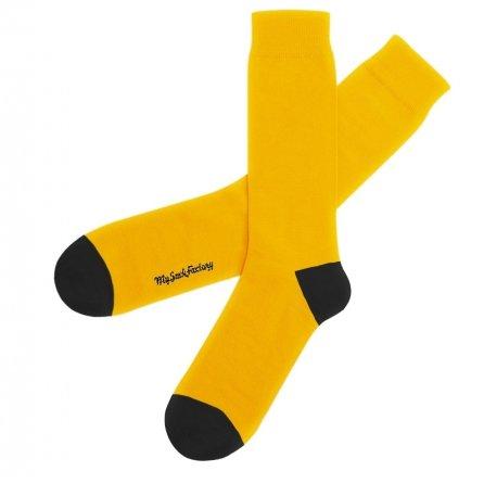 chaussettes-bicolores-jaune-et-noire-new-york-cab