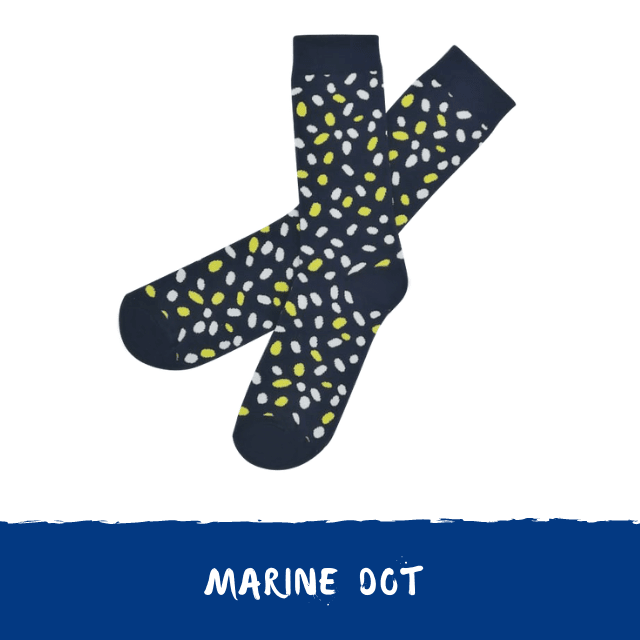 Marine dot socks collab Fizzen x My sock Factory