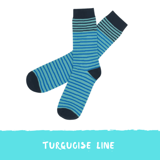 Turquoise socks Collab My Sock Factory x Fizzen